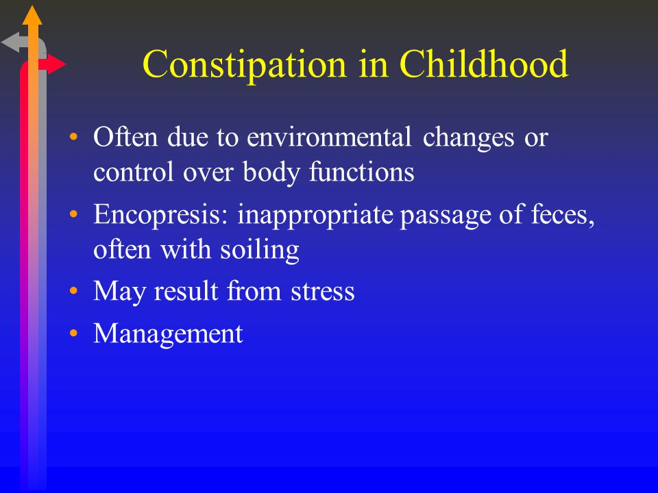 Constipation in Childhood