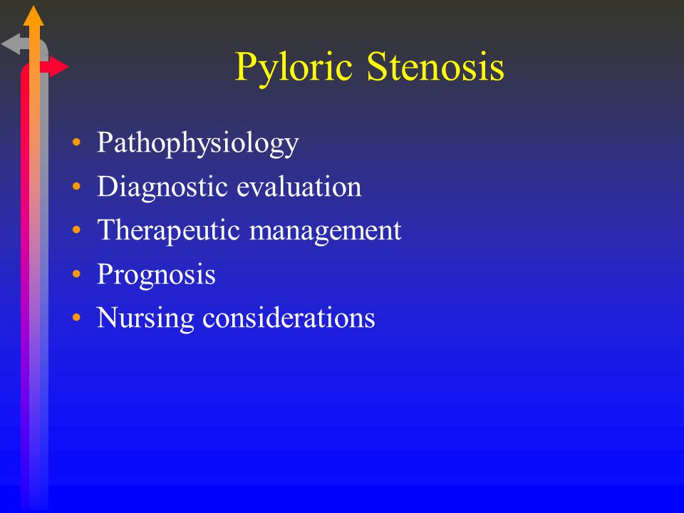 Pyloric Stenosis Pathophysiology Diagnostic evaluation