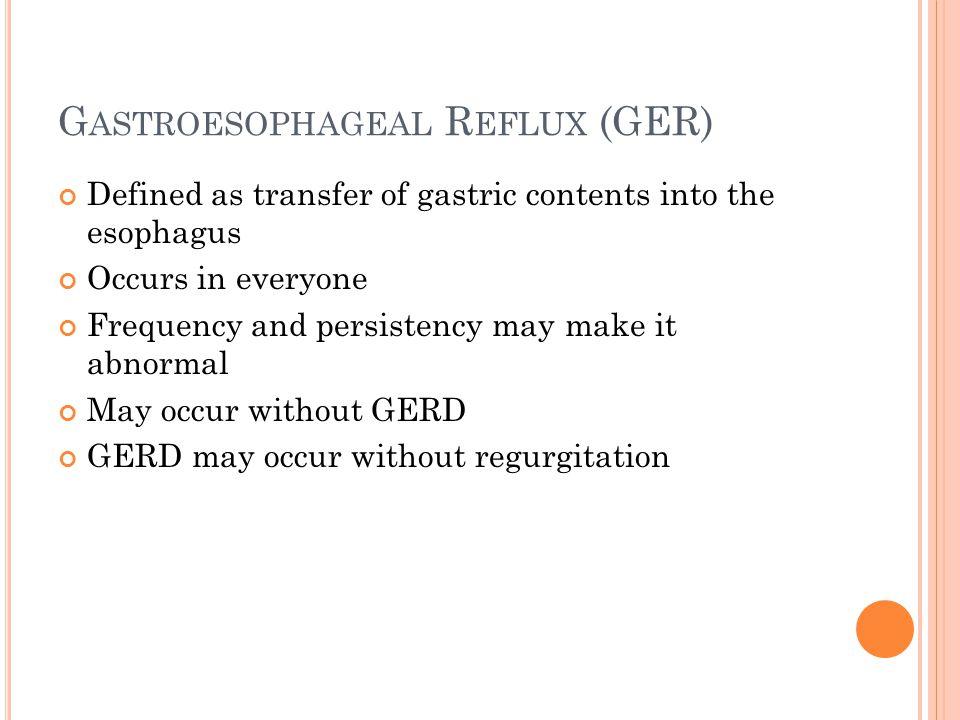 Gastroesophageal Reflux (GER)