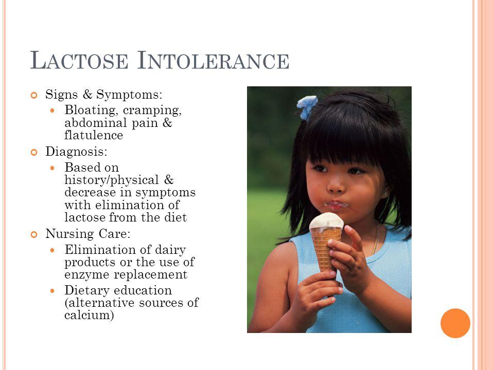 Lactose Intolerance Signs & Symptoms: