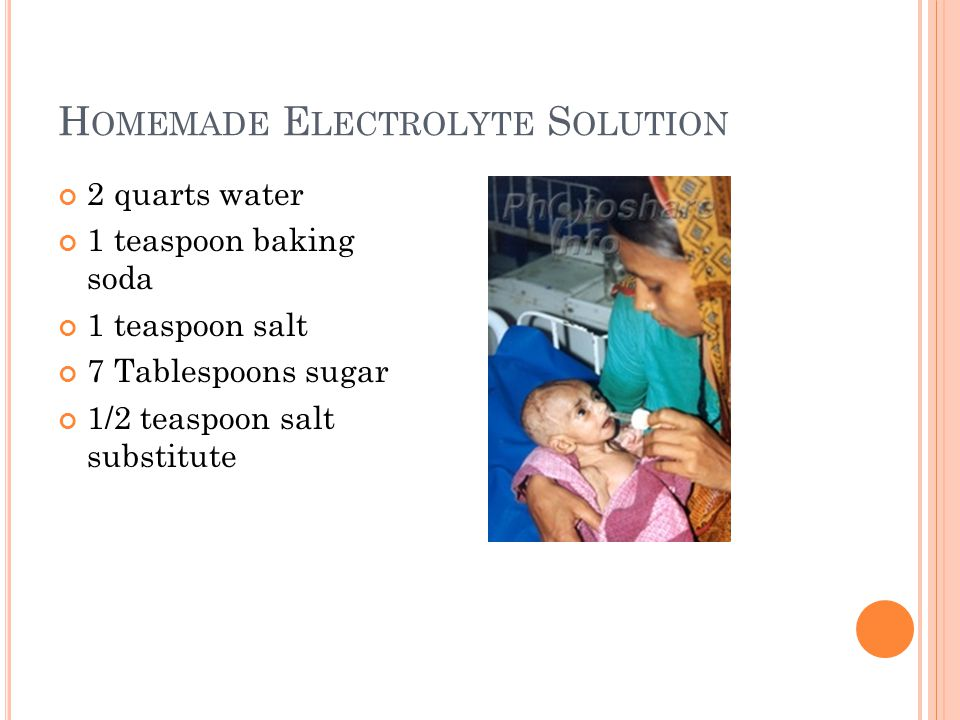 Homemade Electrolyte Solution