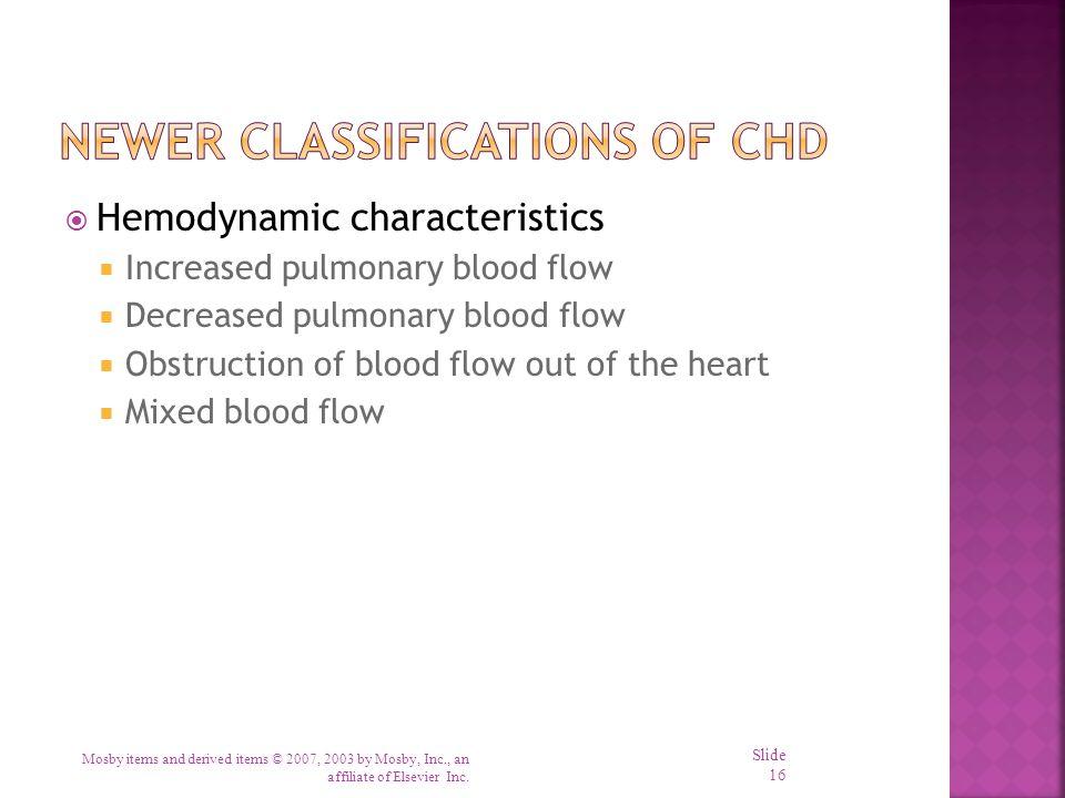 Newer Classifications of CHD