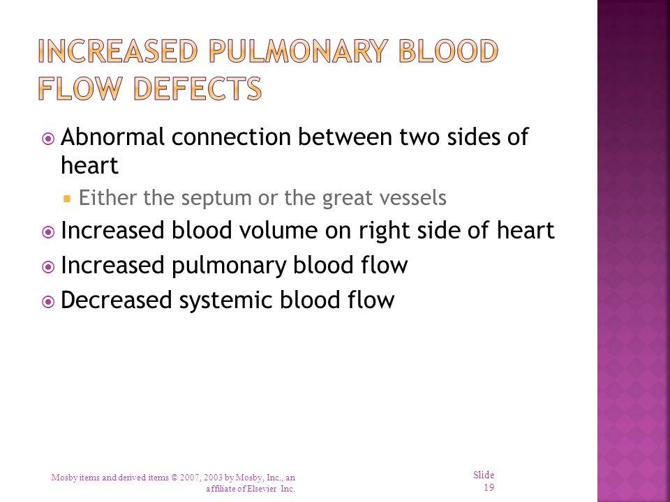 Increased Pulmonary Blood Flow Defects