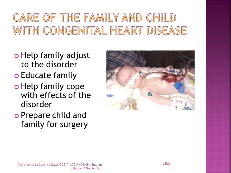 Care of the Family and Child with Congenital Heart Disease