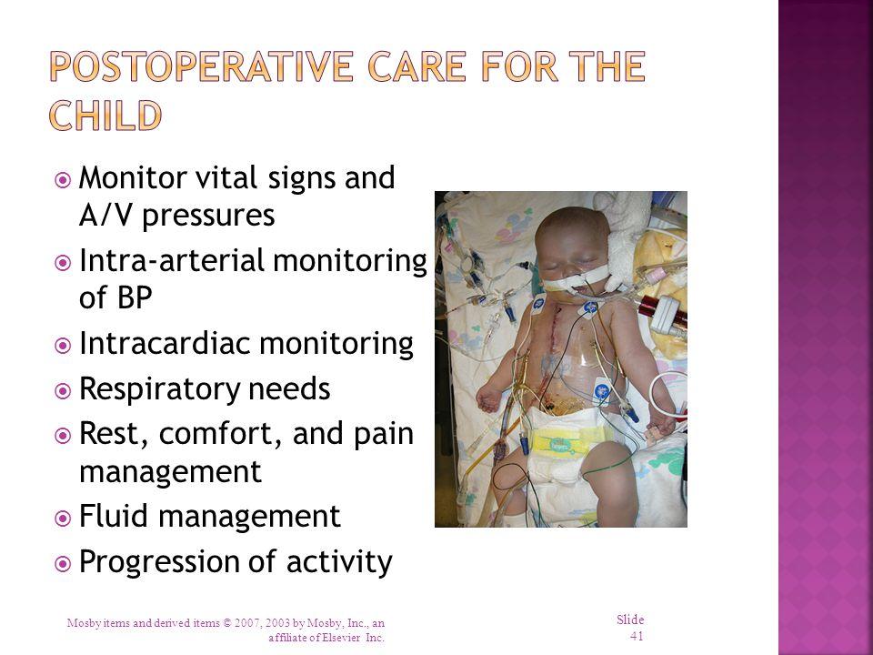 Postoperative Care for the Child