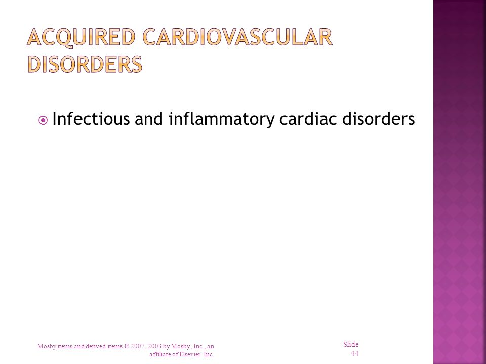 Acquired Cardiovascular Disorders
