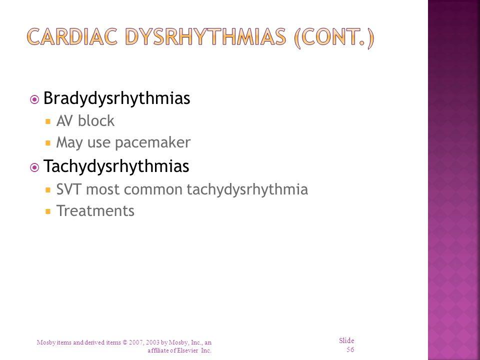 Cardiac Dysrhythmias (cont.)