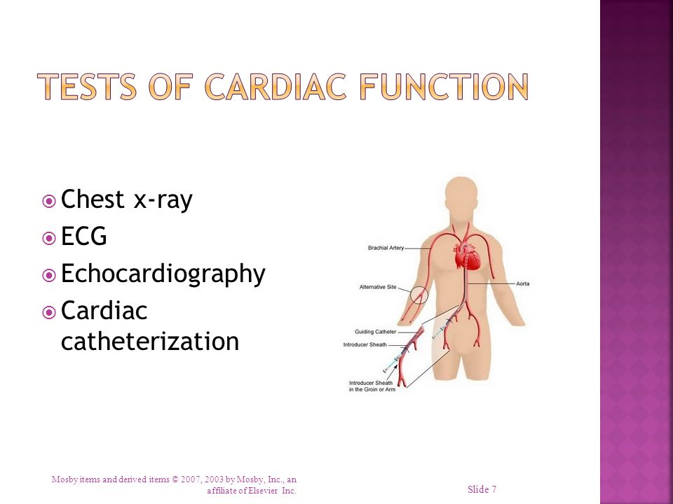 Tests of Cardiac Function