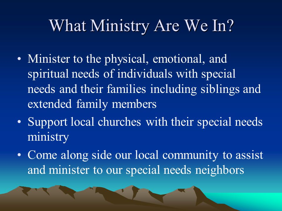 What Ministry Are We In