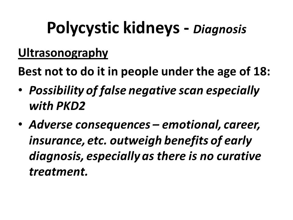 Polycystic kidneys - Diagnosis