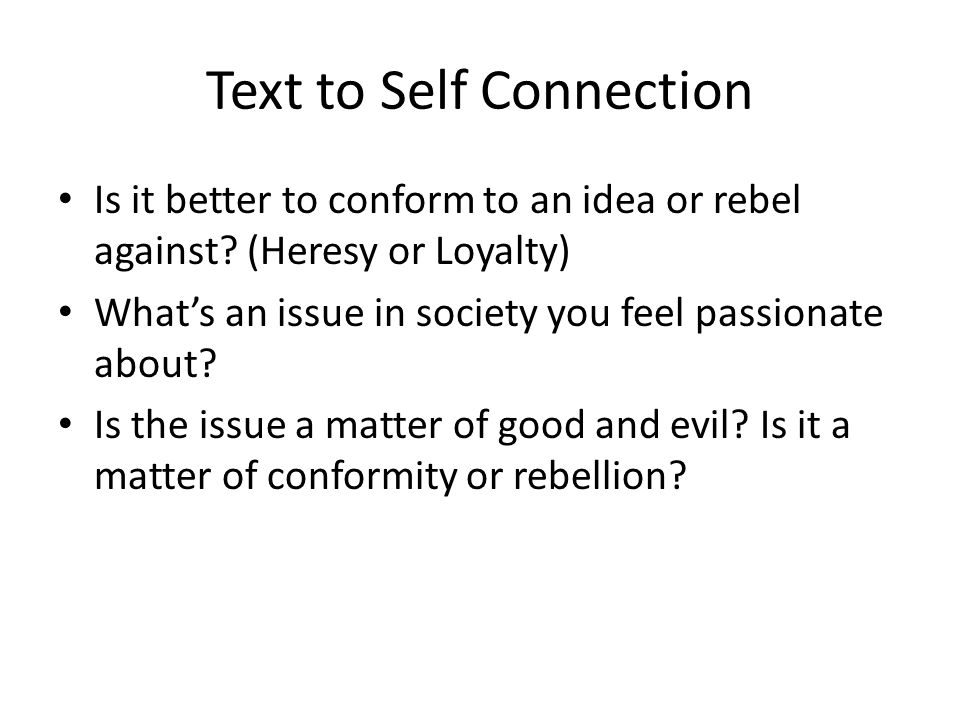 Text to Self Connection