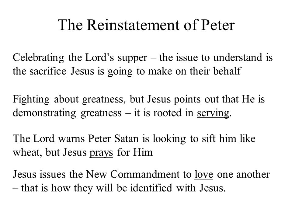The Reinstatement of Peter