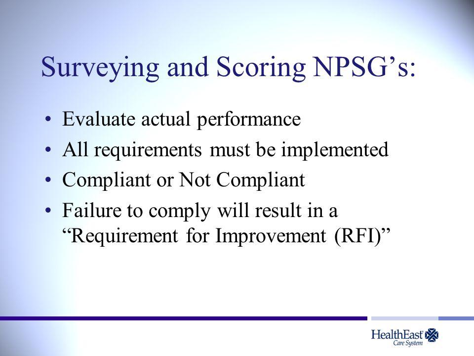 Surveying and Scoring NPSG's: