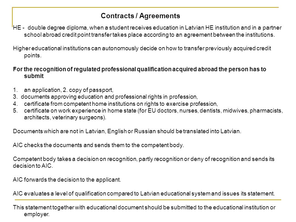 Contracts / Agreements