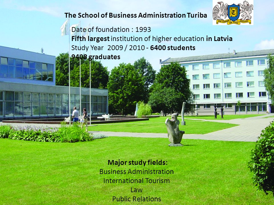 The School of Business Administration Turiba