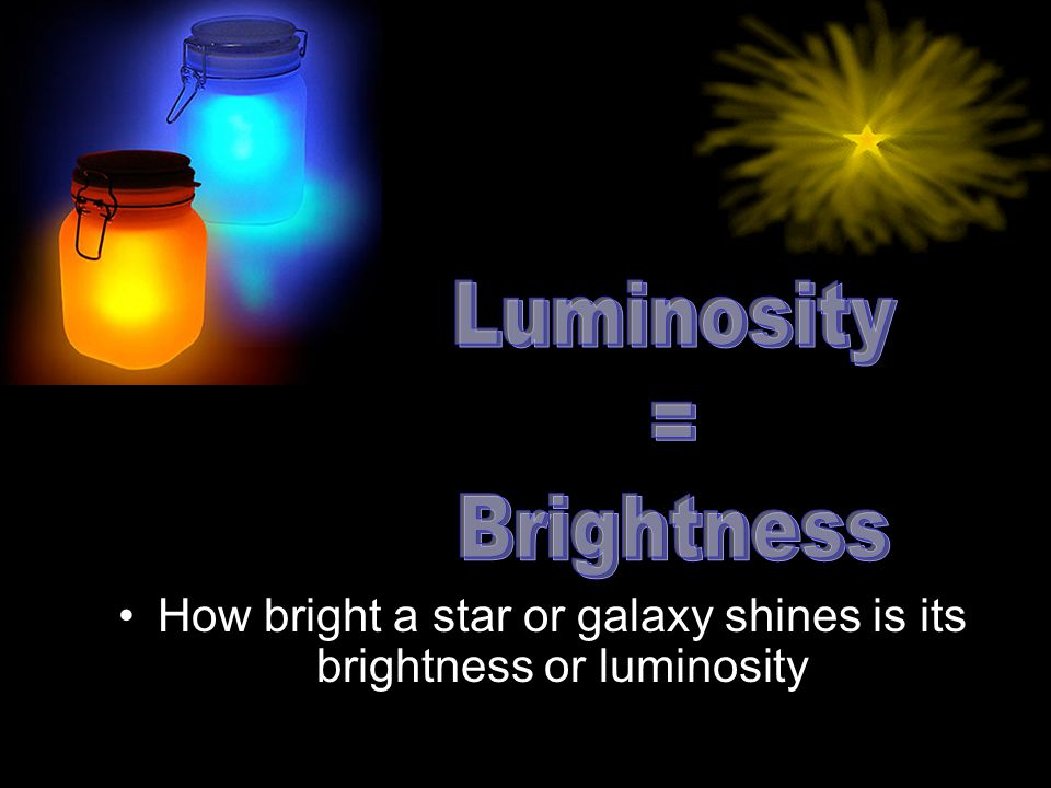 How bright a star or galaxy shines is its brightness or luminosity