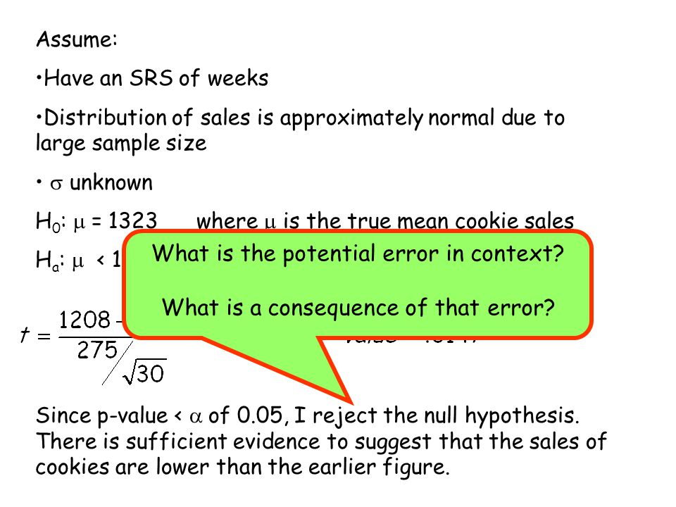 What is the potential error in context