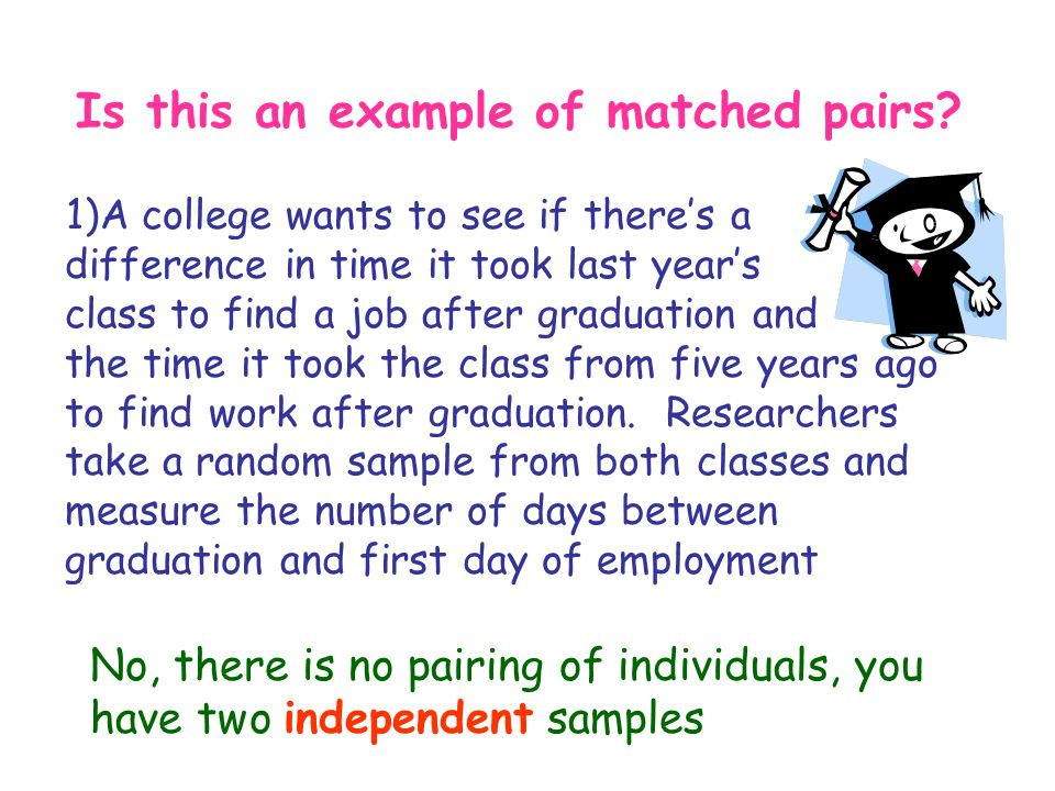 Is this an example of matched pairs