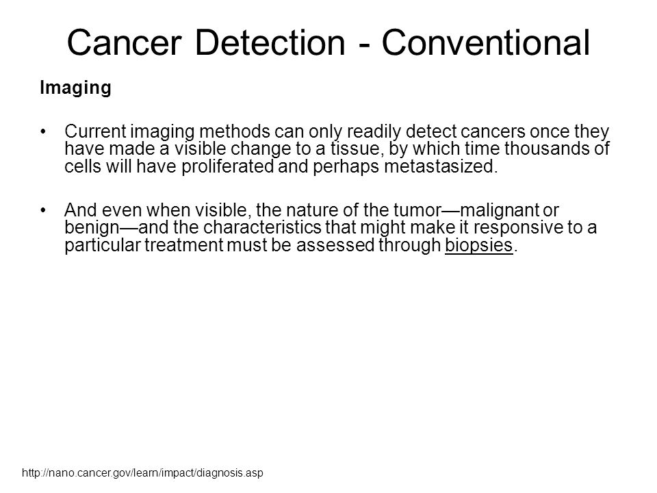 Cancer Detection - Conventional
