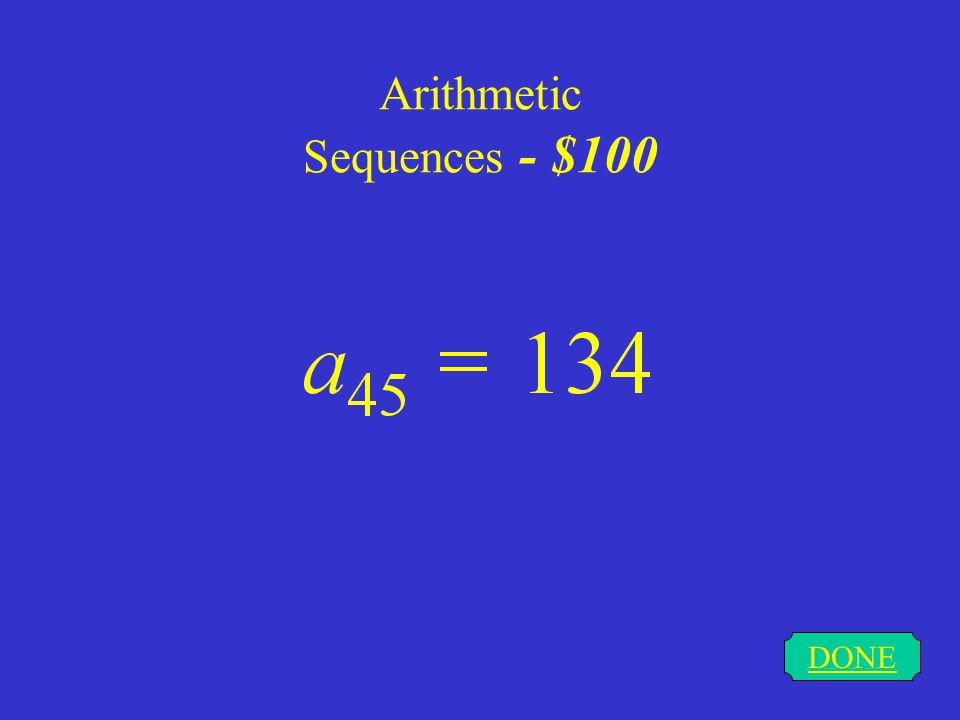 Arithmetic Sequences - $100