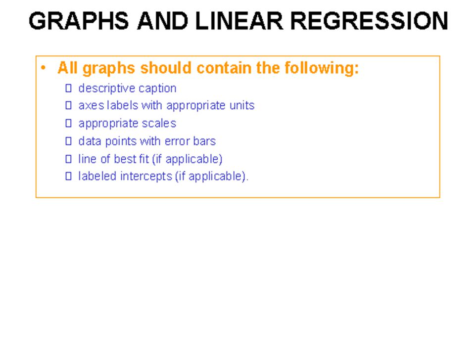 Graphs and linear regression