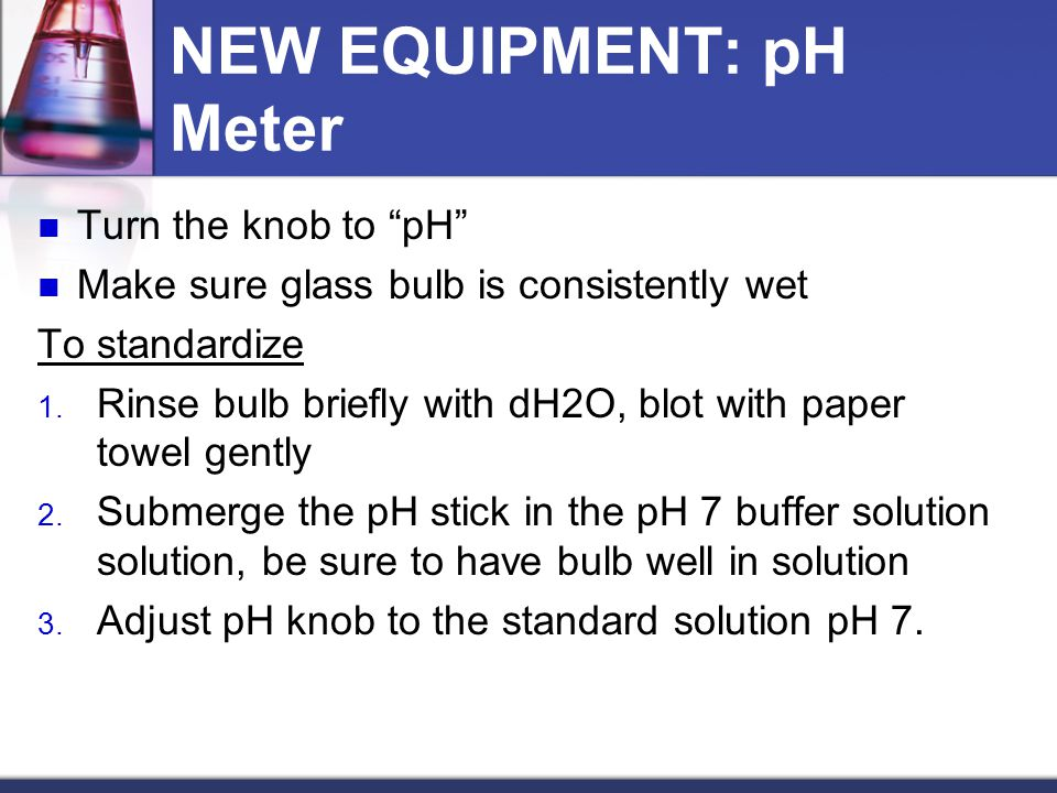 NEW EQUIPMENT: pH Meter