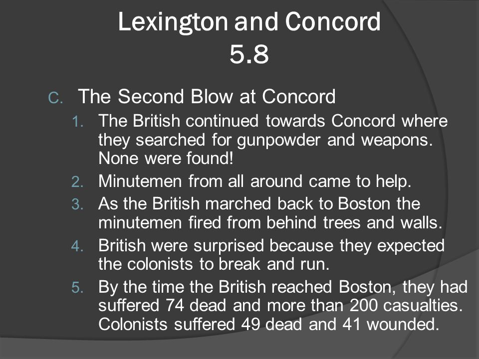 Lexington and Concord 5.8 The Second Blow at Concord