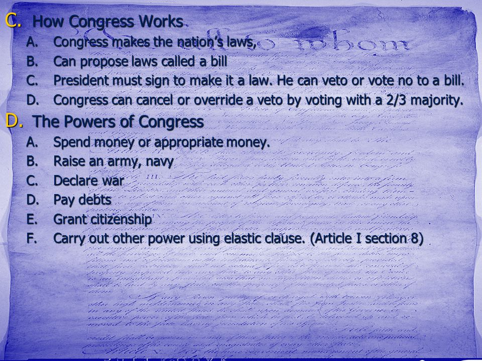 How Congress Works The Powers of Congress