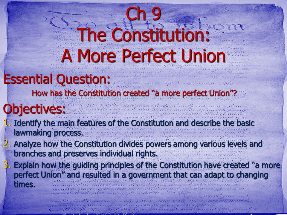 a perfect constitution How to write a constitution a constitution is a document that provides the rules on how an organization of people (eg, a small club, a university group, or even a group as large as a country or state) runs its affairs.