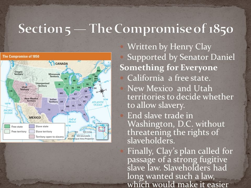 Section 5 — The Compromise of 1850
