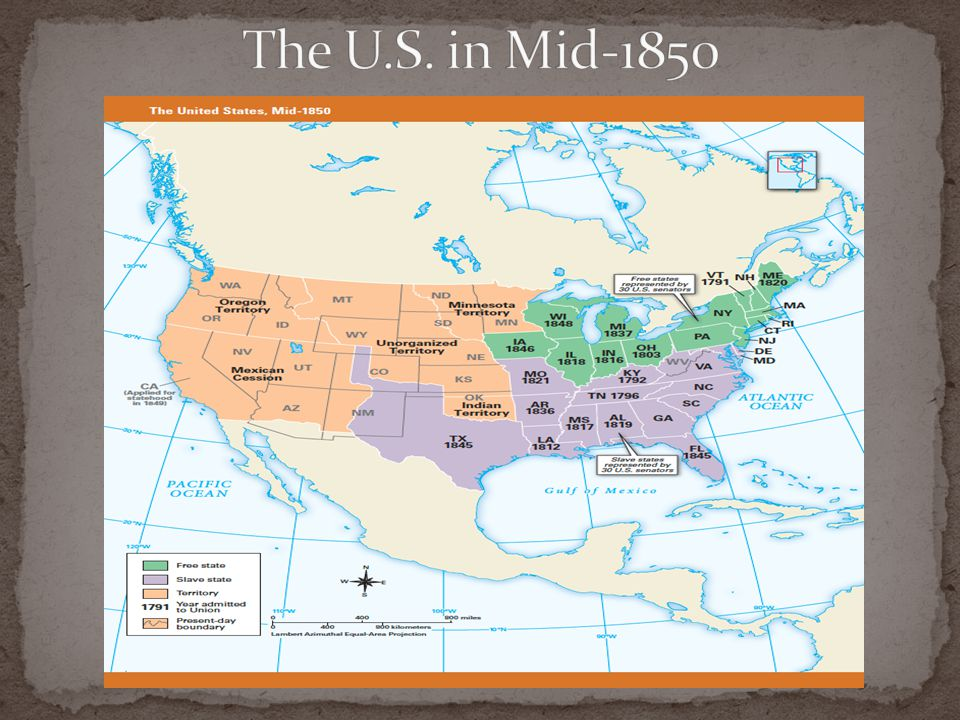 The U.S. in Mid-1850