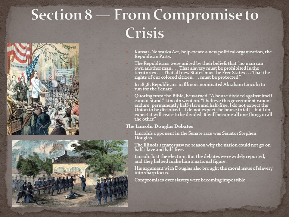 Section 8 — From Compromise to Crisis