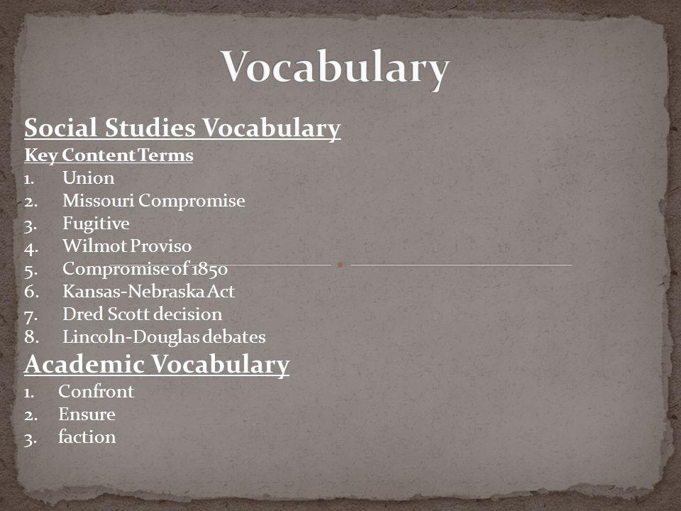 Vocabulary Social Studies Vocabulary Academic Vocabulary