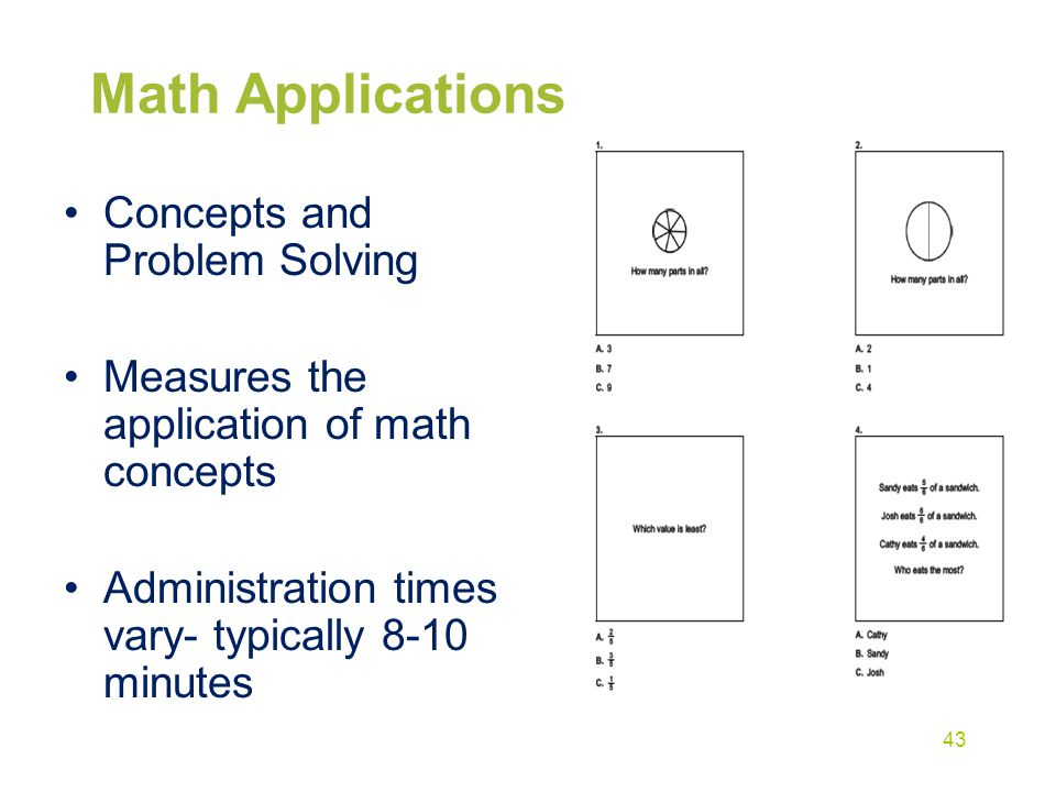 Math Applications Concepts and Problem Solving