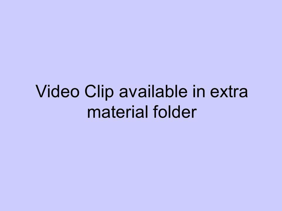 Video Clip available in extra material folder
