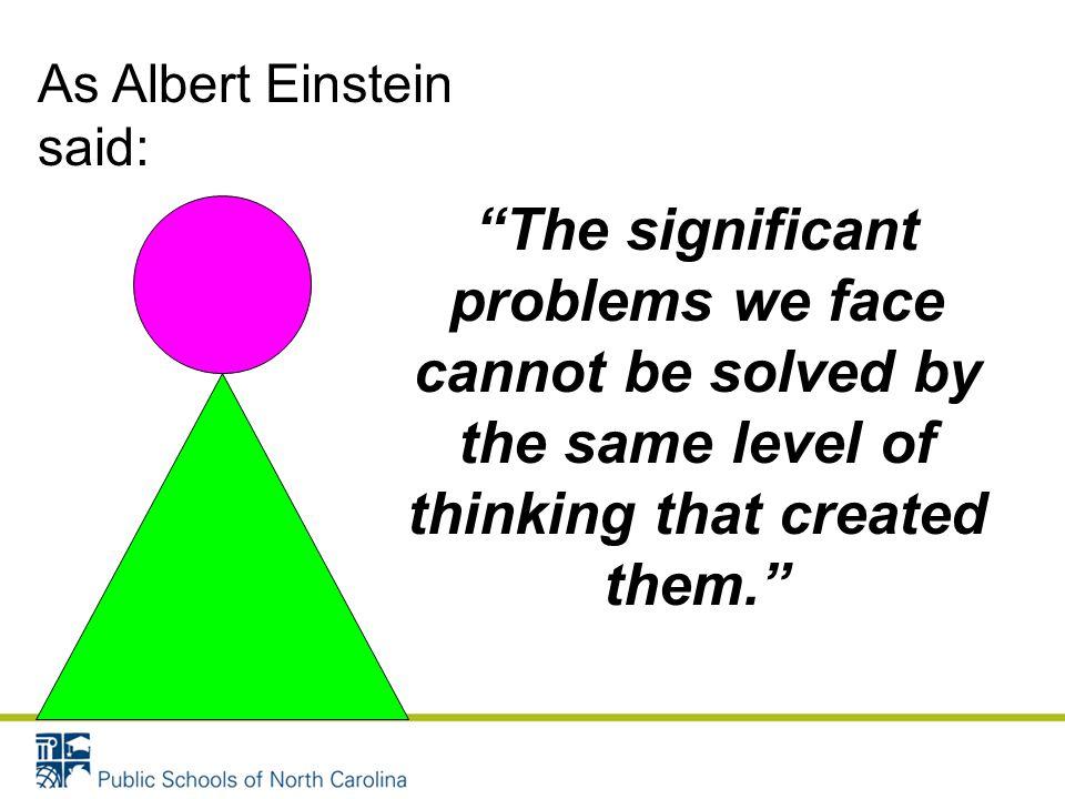 As Albert Einstein said: