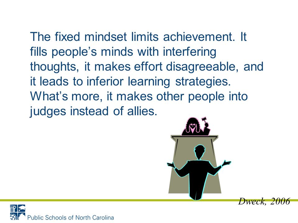 The fixed mindset limits achievement
