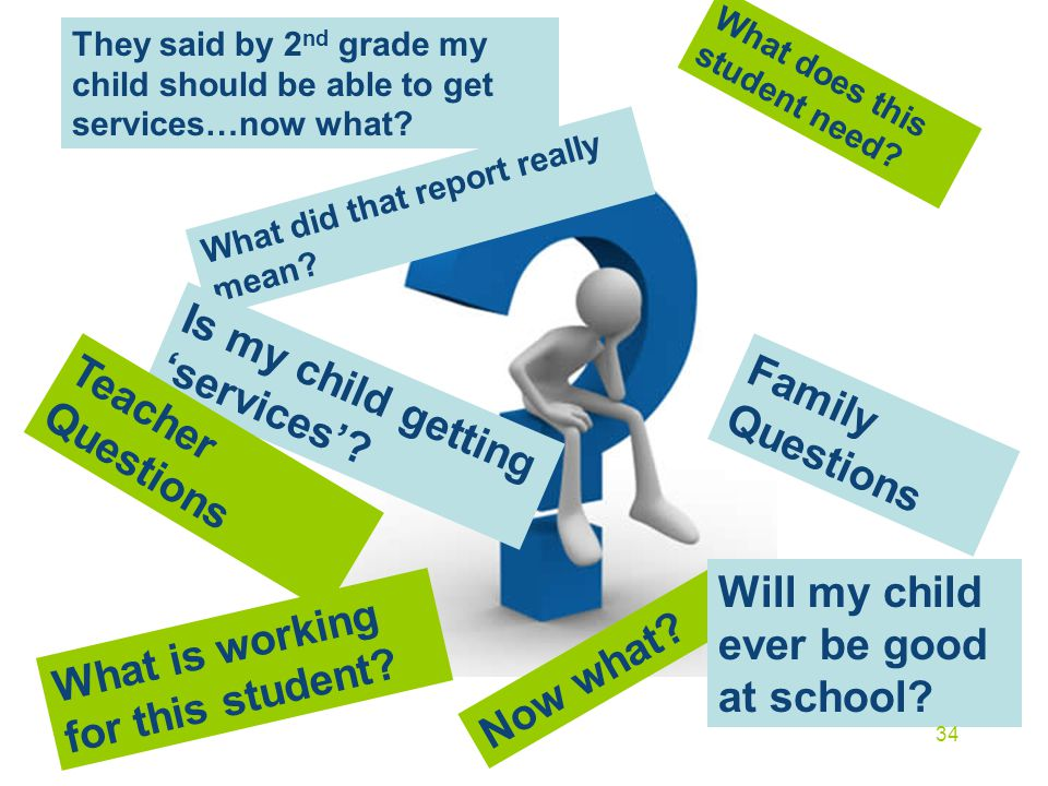 Is my child getting 'services' Family Questions Teacher Questions