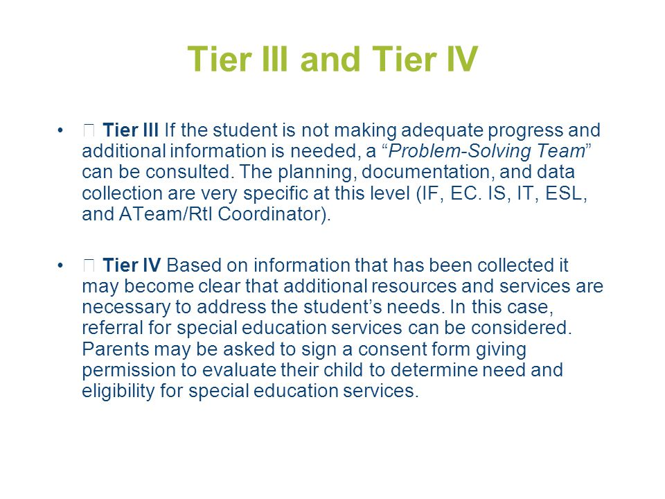 Tier III and Tier IV
