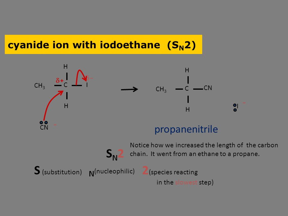 2(species reacting in the slowest step) N(nucleophilic)