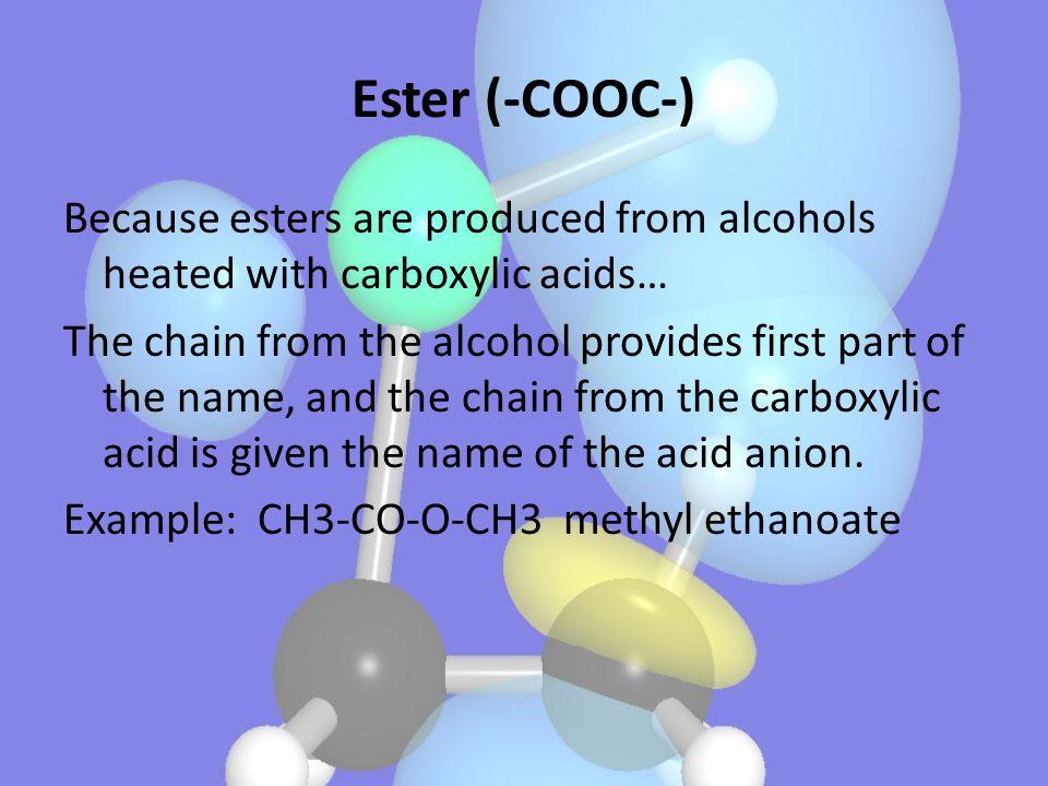 Ester (-COOC-)