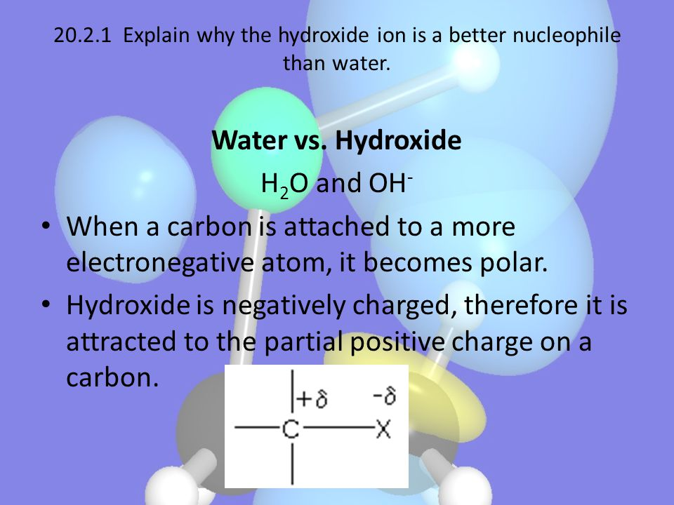 Water vs. Hydroxide H2O and OH-