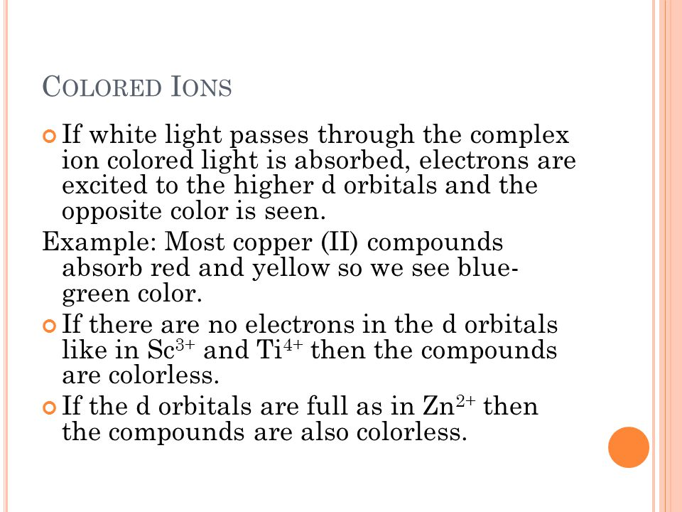 Colored Ions