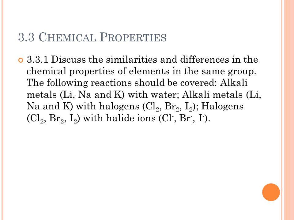 3.3 Chemical Properties