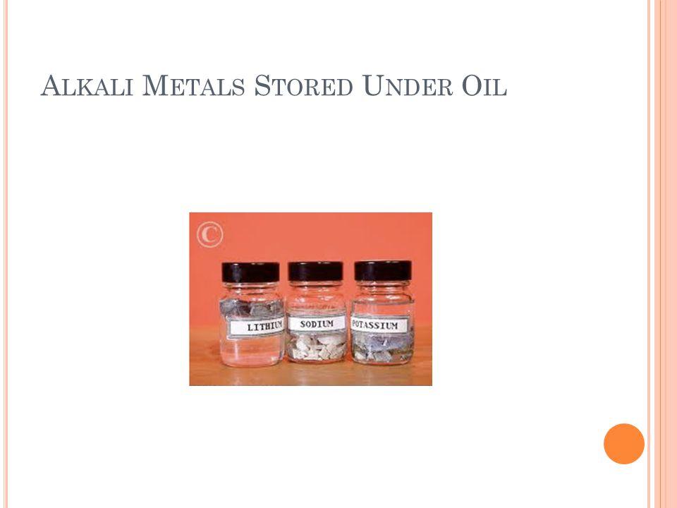 Alkali Metals Stored Under Oil