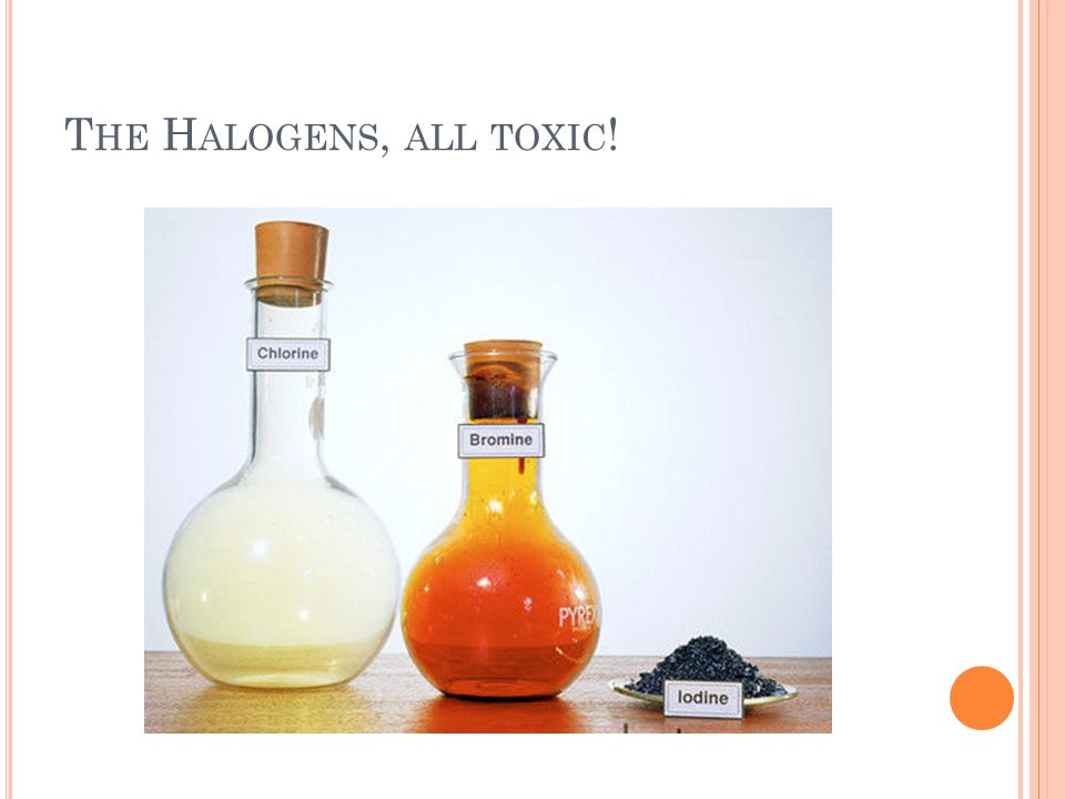 The Halogens, all toxic!