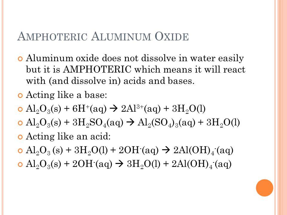 Amphoteric Aluminum Oxide