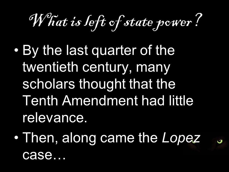 What is left of state power