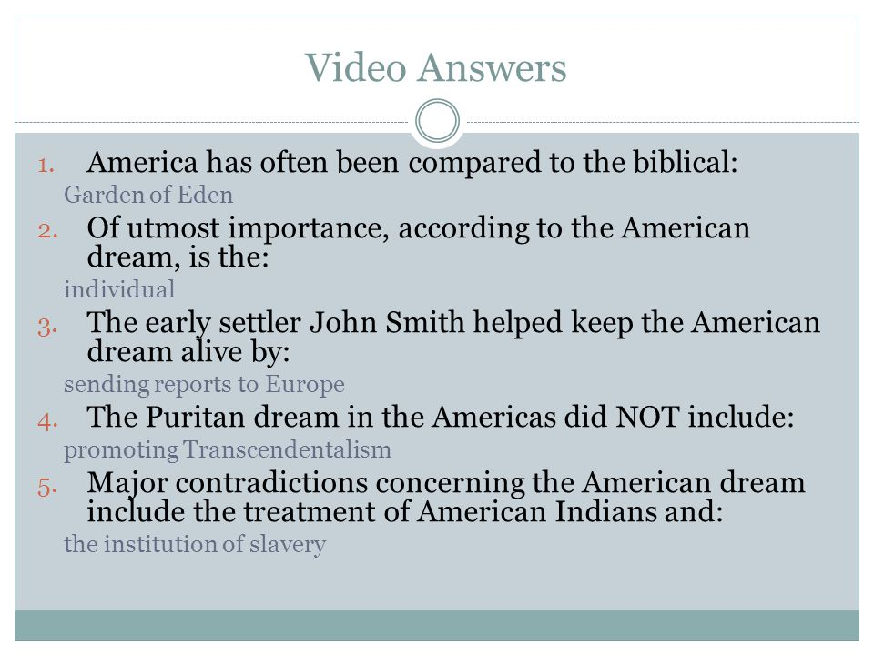 Video Answers America has often been compared to the biblical: