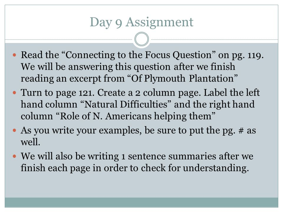 Day 9 Assignment